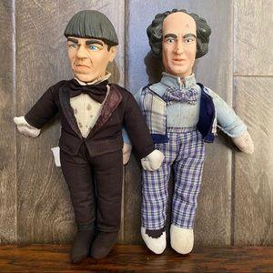 """10"""" Moe & Curly 3 Stooges Figurine Dolls"""